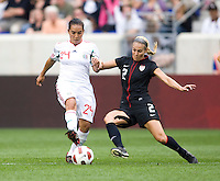 Monica Ocampo, Heather Mitts. The USWNT defeated Mexico, 1-0, during the game at Red Bull Arena in Harrison, NJ.