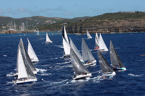 Start of the small class in the RORC Caribbean 600 in February 2020. The 2021 Race, scheduled for February 22nd, was cancelled this week.