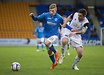 St Johnstone v Inverness Caledonian Thistle...20.12.14   SPFL<br /> David Wotherspoon is pulled back by Greg Tansey<br /> Picture by Graeme Hart.<br /> Copyright Perthshire Picture Agency<br /> Tel: 01738 623350  Mobile: 07990 594431