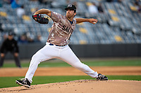 St. Paul Saints pitcher Bryan Sammons (45) during a game against the Omaha Storm Chasers on September 7, 2021 at CHS Field in St. Paul, Minnesota.  (Brace Hemmelgarn/Four Seam Images)