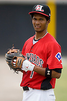 James Andres #1 of the Hickory Crawdads at L.P. Frans Stadium June 21, 2009 in Hickory, North Carolina. (Photo by Brian Westerholt / Four Seam Images)