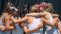 Stanford, CA -- Stanford women sweep Idaho 4-0 in the NCAA first round at Taube Family Tennis Stadium.  May 13th, 2017.
