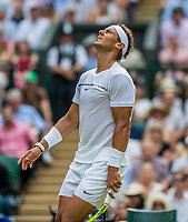London, England, 7 th July, 2017, Tennis,  Wimbledon,  Rafael Nadal (ESP)<br /> Photo: Henk Koster/tennisimages.com