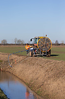22-1-2021 Jetting field drains in the Lincolnshire Fens<br /> ©Tim Scrivener Photographer 07850 303986<br />      ....Covering Agriculture In The UK....
