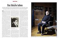 German weekly magazine DER SPIEGEL on a case of lost identity after worldwar II. Riga, Latvia, 03.2012.<br /> Picture: Reinis Hofmanis