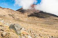 Views of Mount Ngaruhoe from Tongariro Alpine Crossing Track Tongariro Nationasl Park, Central Plateau, North Island, UNESCO World Heritage Area, New Zealand, NZ