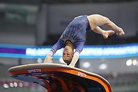 12th March 2020, Baku, Azerbaijan;  2020 Artistic World Cup Gymnastics Tournament;   Georgia-Mae Fenton, GBR, during qualification on vault