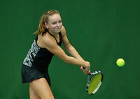 Almere, Netherlands, December 6, 2015, Winter Youth Circuit, Perla Nieuwboer (NED)<br /> Photo: Tennisimages/Henk Koster