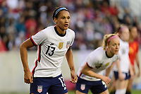 HARRISON, NJ - MARCH 08: Lynn Williams #13 of the United States during a game between Spain and USWNT at Red Bull Arena on March 08, 2020 in Harrison, New Jersey.