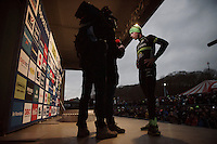 finish podium interview for local hero Sven Nys (BEL/Crelan-AAdrinks) in his very last home race<br /> <br /> GP Sven Nys 2016