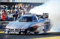 Feb. 19, 2012; Chandler, AZ, USA; NHRA funny car driver Jack Beckman during the Arizona Nationals at Firebird International Raceway. Mandatory Credit: Mark J. Rebilas-