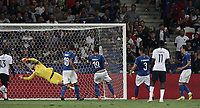 International friendly football match France vs Italy, Allianz Riviera, Nice, France, June 1, 2018. <br /> Italy's Captain Leonardo Bonucci (c) scores during the international friendly football match between France and Italy at the Allianz Riviera in Nice on June 1, 2018.<br /> UPDATE IMAGES PRESS/Isabella Bonotto