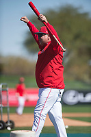 Los Angeles Angels manager Mike Scioscia (14) during Spring Training Camp on February 22, 2018 at Tempe Diablo Stadium in Tempe, Arizona. (Zachary Lucy/Four Seam Images)