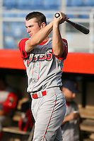 June 27th 2008:  Outfielder Brandon Haislet of the Williamsport Crosscutters, Class-A affiliate of the Pittsburgh Pirates, during a game at Russell Diethrick Park in Jamestown, NY.  Photo by:  Mike Janes/Four Seam Images