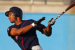 1 July 2005: Brian Barton of the Kinston Indians, Class A Carolina League affiliate of the Cleveland Indians, taken at Pfitzner Stadium, Woodbridge, Va., in a game against the Potomac Nationals. Photo by Tom Priddy/Four Seam Images