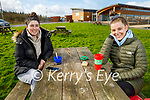Enjoying their picnic in the Tralee Bay Wetlands on Tuesday, l to r: Aiveen Gavaghan and Orla Sheehy.