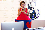 Spanish designer Agatha Ruiz de la Prada present a new hit of violinist Elena Mikhailova and Dj Madison at MBFWM16 in Madrid. September 16, Spain. 2016. (ALTERPHOTOS/BorjaB.Hojas)