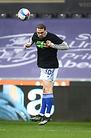 20th March 2021; Liberty Stadium, Swansea, Glamorgan, Wales; English Football League Championship Football, Swansea City versus Cardiff City; Ciaron Brown of Cardiff City heads the ball during warm up