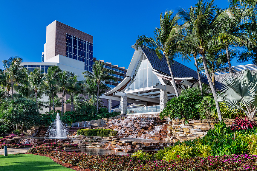 Exterior of the Hilton Resort and Spa Hotel on Marco Island.