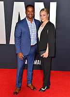 "LOS ANGELES, USA. October 07, 2019: Alfonso Ribeiro & Angela Unkrich at the premiere of ""Gemini Man"" at the TCL Chinese Theatre, Hollywood.<br /> Picture: Paul Smith/Featureflash"
