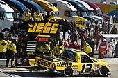 NASCAR Camping World Truck Series<br /> Alpha Energy Solutions 250<br /> Martinsville Speedway, Martinsville, VA USA<br /> Saturday 1 April 2017<br /> Cody Coughlin pit stop<br /> World Copyright: Nigel Kinrade/LAT Images<br /> ref: Digital Image 17MART1nk05234