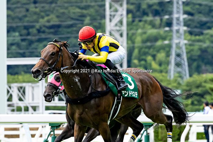 KITAKYUSHU,JAPAN-JUL 18: Andraste,ridden by Yuga Kawada,wins the Chukyo Kinen at Kokura Racecourse on July 18,2021 in Kitakyushu,Fukuoka,Japan. Kaz Ishida/Eclipse Sportswire/CSM