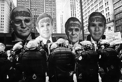 Chicago, Illinios.USA.April 5, 2003..Anti-War protest as US troops enter Baghdad.