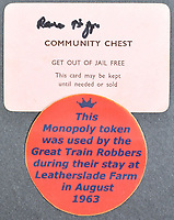 Mementos from the infamous Great Train Robbery have emerged for sale 58 years later