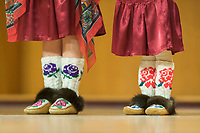 Traditional mocassin footwear at the festival of Native Arts celebration in Fairbanks, Alaska.
