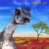 Simon, REALISTIC ANIMALS, REALISTISCHE TIERE, ANIMALES REALISTICOS, innovativ, paintings+++++RiverPeacock_Emu,GBWR327,#a#, EVERYDAY