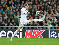 Real Madrid CF's Gareth Bale -controls the ball during UEFA Champions League match, groups between Real Madrid and Paris Saint Germain at Santiago Bernabeu Stadium in Madrid, Spain. November, Tuesday 26, 2019.(ALTERPHOTOS/Manu R.B.)<br /> Champions League 2019/2020  <br /> Real Madrid - PSG Paris Saint Germain <br /> Foto Alterphotos / Insidefoto <br /> ITALY ONLY