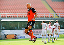 Dundee Utd's Jaroslaw Fojut celebrates after he scores their second goal.