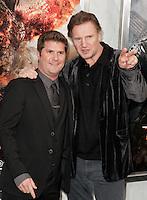 """Liam Neeson e Jonathan Liebesman..Anteprima di """"La Furia dei Titani"""".. """"Wrath of the Titans""""..AMC Lincoln Square Theater..26/03/2012, New York..Foto Insidefoto / Marco Sagliocco....Only Italy"""