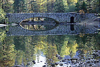 Impressionistic reflection at Stonemen Bridge, near Curry Village in Yosemite Valley.