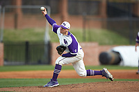 High Point Panthers starting pitcher Andrew Gottfried (21) delivers a pitch to the plate against the Campbell Camels at Williard Stadium on March 16, 2019 in  Winston-Salem, North Carolina. The Camels defeated the Panthers 13-8. (Brian Westerholt/Four Seam Images)