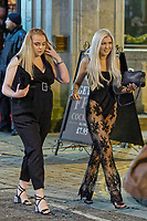 Pictured: Two female revellers in Wind Street, Swansea. Monday 31 December 2018 and Tuesday 01 January 2019<br /> Re: New Year revellers in Wind Street, Swansea, Wales, UK