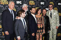 """LOS ANGELES, CA - JANUARY 07: Tim Robbins, Haley Joel Osment, Steve Tom, Tobey Maguire, Kristen Wiig, David Spade, Will Ferrell arriving at the Los Angeles Screening Of IFC's """"The Spoils Of Babylon"""" held at the Directors Guild Of America on January 7, 2014 in Los Angeles, California. (Photo by Xavier Collin/Celebrity Monitor)"""