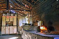 Cozinha de casa pobre em area rural de Rosario Oeste. Mato Grosso. Foto de Antonio Siqueira.
