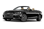 Stock pictures of low aggressive front three quarter view of 2018 Audi A5 Design 2 Door Convertible Low Aggressive