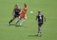 Sky Blue FC forward Natasha Kai moves past l LA Sol's Brittany Bock during the WPS Championship match. The Sky Blue FC defeated the LA Sol 1-0 to win the WPS Final Championship match at Home Depot Center stadium in Carson, California on Saturday, August 22, 2009...