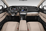 Stock photo of straight dashboard view of a 2015 Subaru Outback 2.5i CVT 4 Door Wagon Dashboard