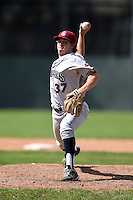 Mahoning Valley Scrappers pitcher Luke Eubank (37) delivers a pitch during a game against the Batavia Muckdogs on August 24, 2014 at Dwyer Stadium in Batavia, New York.  Mahoning Valley defeated Batavia 7-6.  (Mike Janes/Four Seam Images)