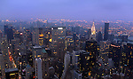 Early morning view of New York City from the Empire State Building.