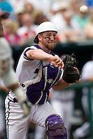 TCU's XXX against Florida State in Game 1 of the NCAA Division One Men's College World Series on Saturday June 19th, 2010 at Johnny Rosenblatt Stadium in Omaha, Nebraska.  (Photo by Andrew Woolley / Four Seam Images)