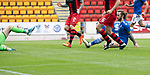 St Johnstone v St Mirren……29.08.20   McDiarmid Park  SPFL<br />Stevie May scores his goal<br />Picture by Graeme Hart.<br />Copyright Perthshire Picture Agency<br />Tel: 01738 623350  Mobile: 07990 594431