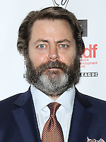 NEW YORK CITY, NY, USA - MAY 04: Nick Offerman at the 29th Annual Lucille Lortel Awards held at the NYU Skirball Center on May 4, 2014 in New York City, New York, United States. (Photo by Jeffery Duran/Celebrity Monitor)