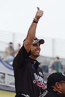 Sept. 30, 2012; Madison, IL, USA: NHRA top fuel dragster driver Larry Dixon during the Midwest Nationals at Gateway Motorsports Park. Mandatory Credit: Mark J. Rebilas-
