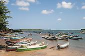 Piaçabuçu, Alagoas State, Brazil. Fishing boats in bay.
