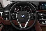 Car pictures of steering wheel view of a 2018 BMW 6 Series Gran Turismo Luxury 5 Door Hatchback
