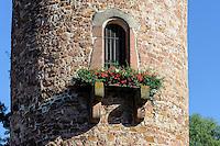 Runder Turm in Obernburg am Main, Bayern, Deutschland